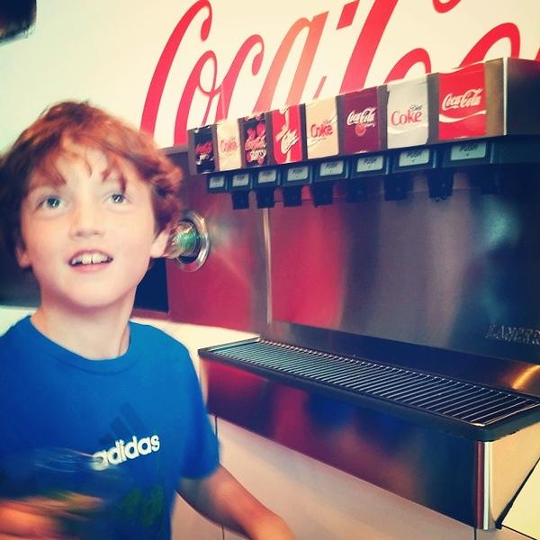 Ben was Coca-Cola crazy today
