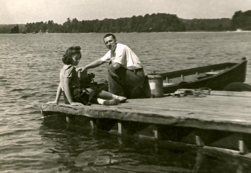 Lillian & John at their camp in Maine