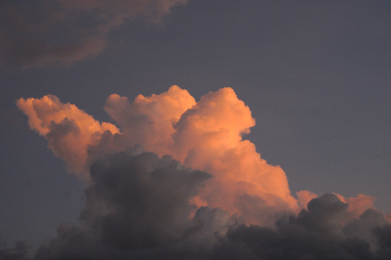 We closed the day with the clouds building for an evening thunderstorm.