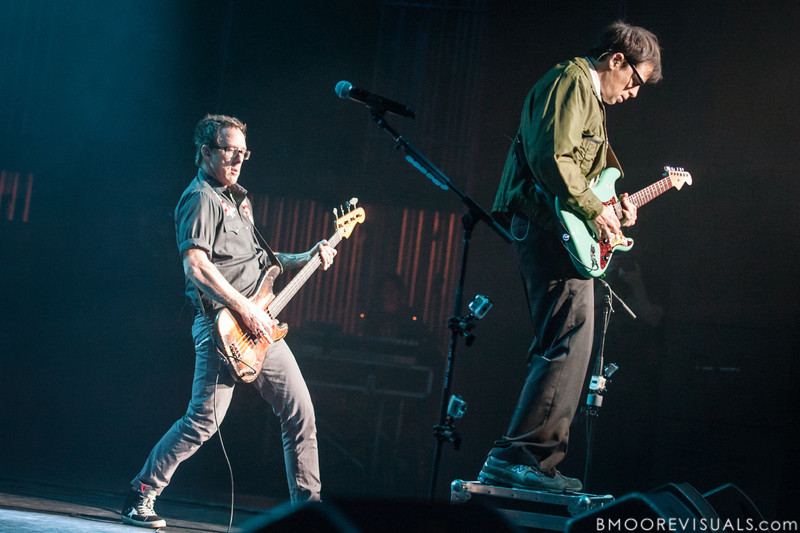 Scott Shriner and Rivers Cuomo of Weezer perform on November 9, 2012 at The Mahaffey in St. Petersburg, Florida
