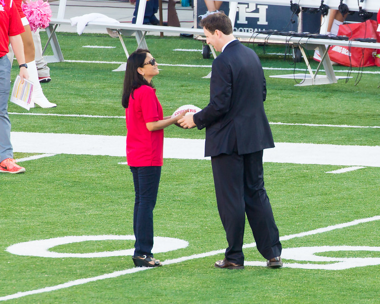 And Dr. Rupa Iyer is awarded the Faculty-Member-of-the-Game, game ball.
