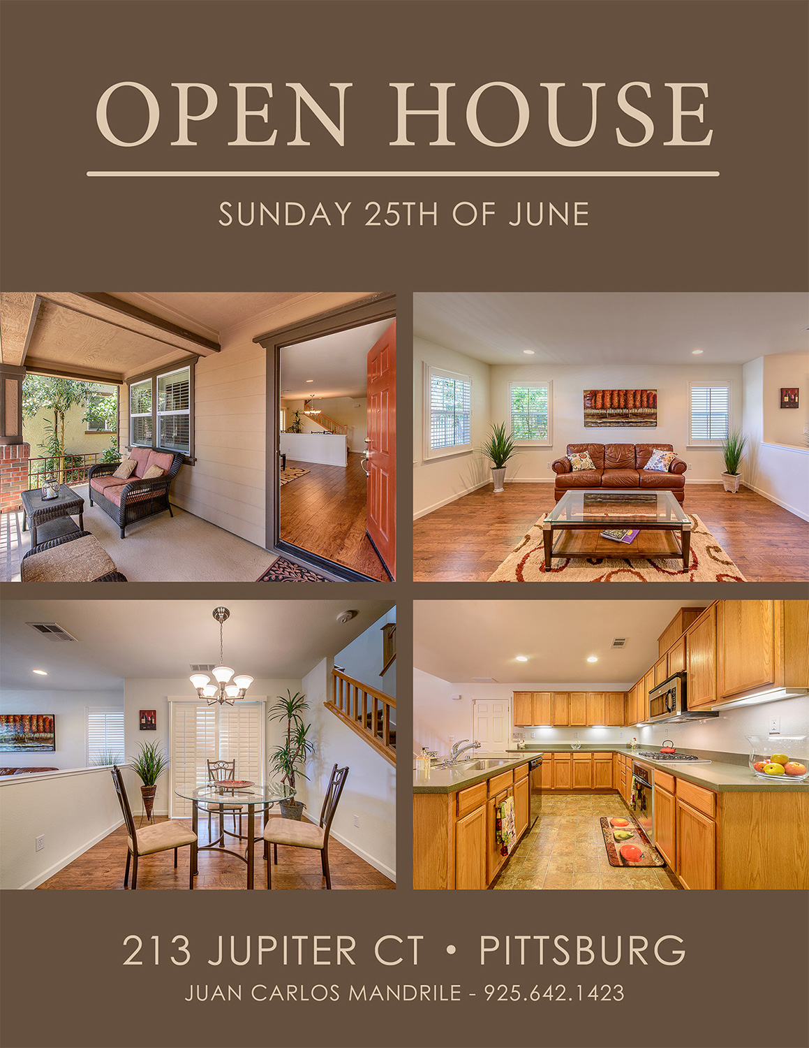Pittsburd house open house flyer - real estate photography