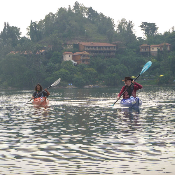 Just to prove that Kavita does paddle (occasionally!)