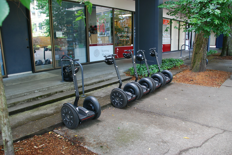 Segway tour of downtown Portland, our chariots await.