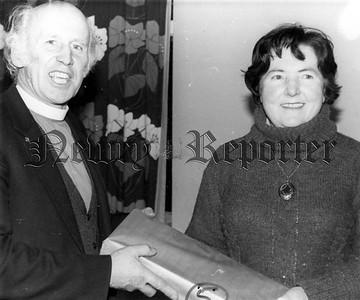 Rostrevor Bowls Canon Dermot Jameison with Mrs J Roberts