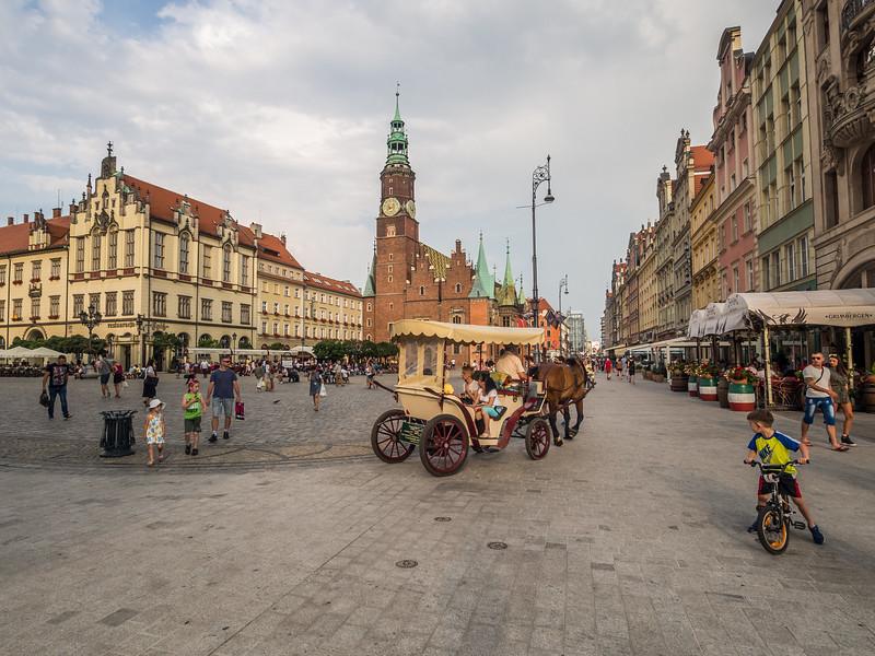 Making Turns on Rynek Square, Wrocław, Poland