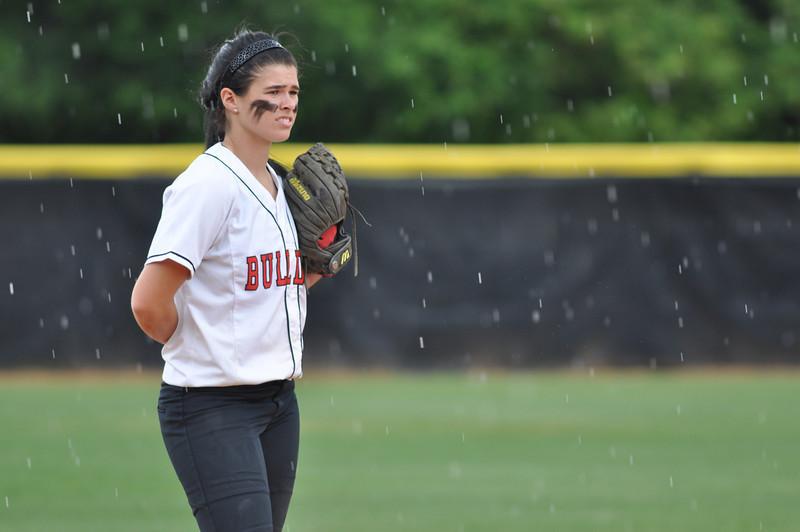 Savannah Burns on defence vs Charleston Southern on April 21, 2012.