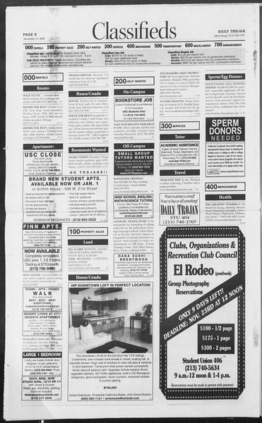 Daily Trojan, Vol. 156, No. 58, November 11, 2005