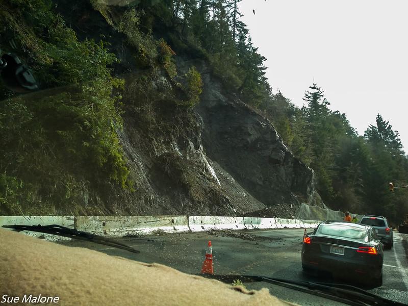 slide on Highway 101