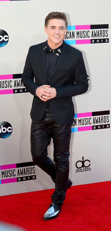 . Jesse McCartney arrives to the American Music Awards  at the Nokia Theatre in Los Angeles, California on Sunday November 24, 2013 (Photo by Andy Holzman / Los Angeles Daily News)