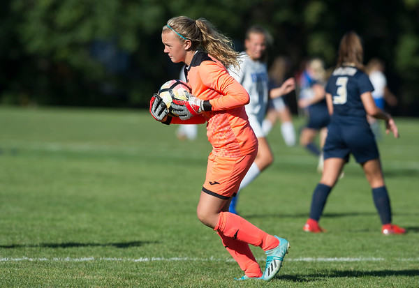 09/17/19 Wesley Bunnell | StaffrrBristol Eastern vs Newington soccer on Tuesday afternoon at Newington High School. Newington's goal keeper Ella Depase (1).