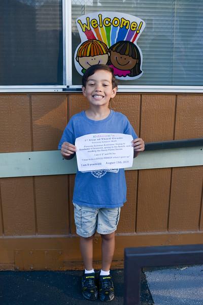 20180812 First Day of Third Grade