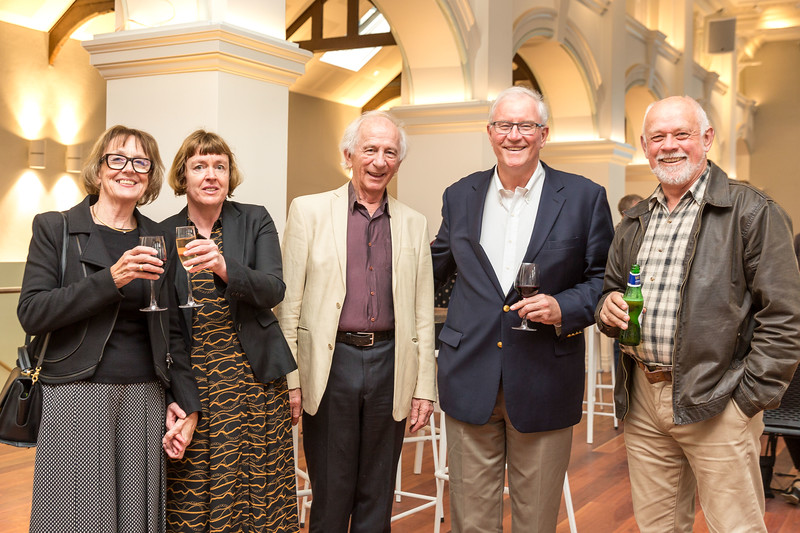 Maurice Clarke with Karyn & Marie Cosgrove, Ian Waddell and Andrew King at the soft opening of Public Trust Hall, Wellington, New Zealand held on Saturday 12 October 2019. Photos by John Mathews,    www megasportmedia.co.nz