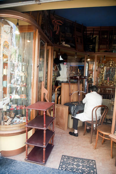 Second hand furniture shop, Gracia quarter, town of Barcelona, autonomous commnunity of Catalonia, northeastern Spain