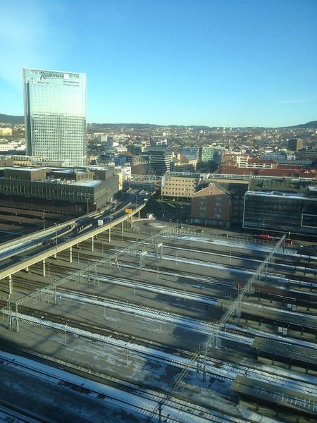 Utsikt over Oslo sentralstasjon...01.03.2013