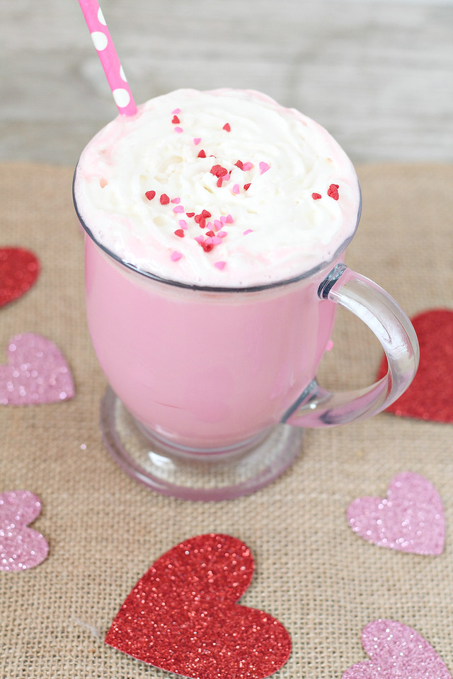 My Pink Strawberry Hot Chocolate Recipe is the perfect warm drink to share with your sweetheart or family this Valentine's Day season. So warm and delicious