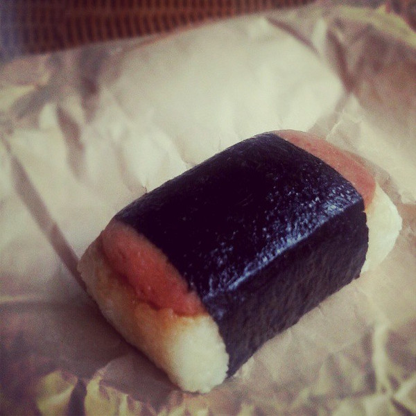 Last_year_I_met__mauibonnie_and_she_told_me_I_couldn_t_eat_spam_musubi_without_her_as_she_knew_the_best_place_to_get_one._This_year_she_picked_me_up_for_dinner_and_brought_one_for_me._Delicious. (1).jpg