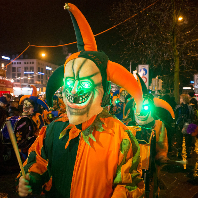 . Revelers celebrate the start of the carnival session in Lucerne, Switzerland, early morning 27 February 2014.  EPA/SIGI TISCHLER