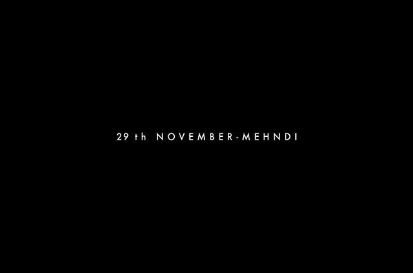 29th November- Mehndi