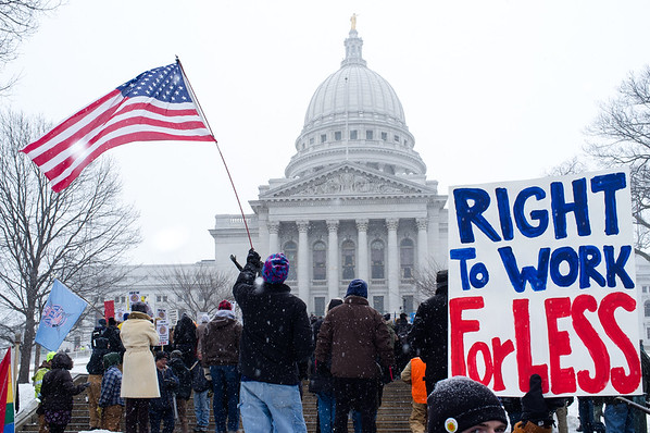 Right to Work Protest Madison
