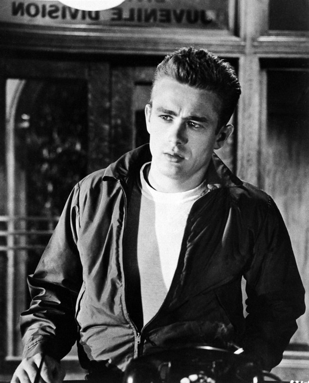""". In this 1955 file photo, James Dean is shown as Jim Stark in a scene from \""""Rebel Without A Cause.\""""  (AP Photo, file)"""