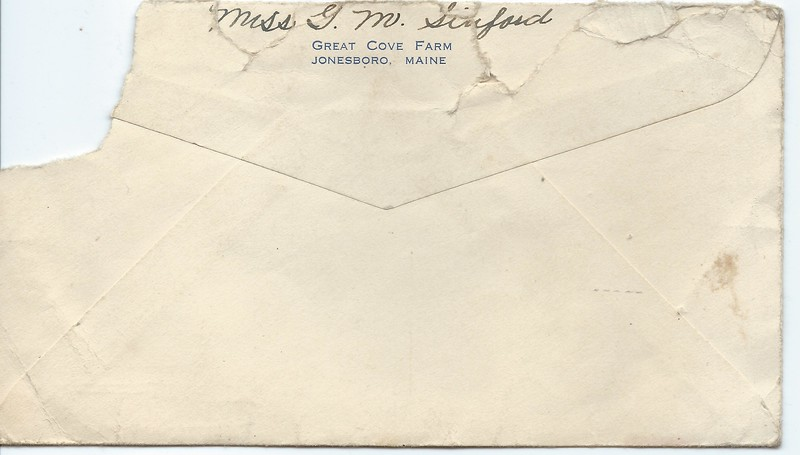 TO Joseph Snowdeal from Grace Maria Sinford March 13 1943