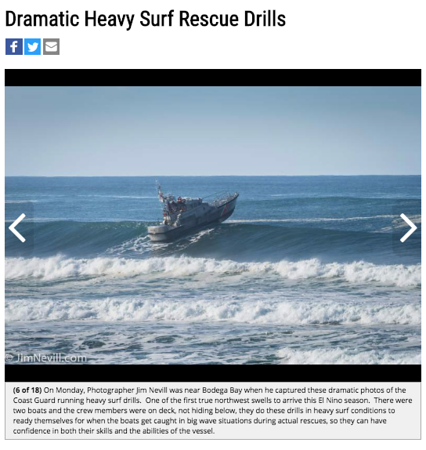 Press Democrat, 18 Photos of Coast Guard Rescue Drills