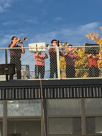Trumpet ensemble, 2017 Turkey Trot
