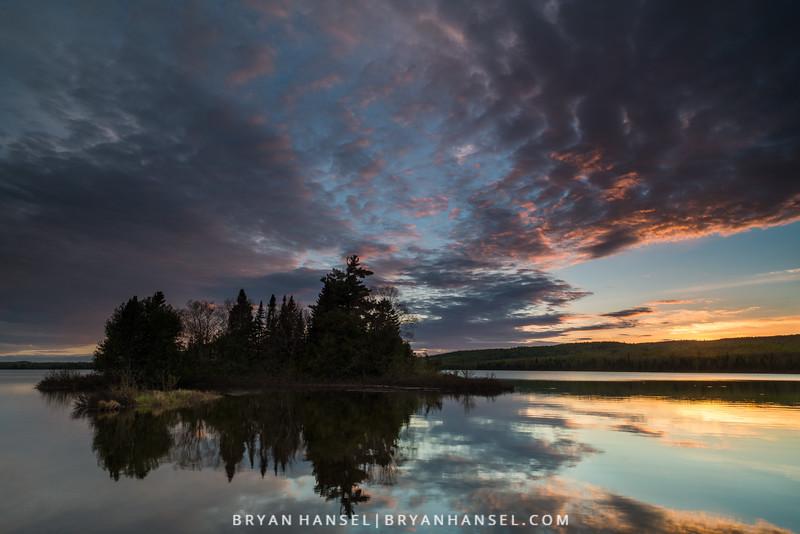 Sunset on Two Island Lake