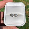 1.70ctw Old European Cut Diamond Clover Stud Earrings, GIA H-I SI 19