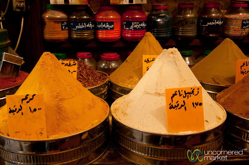 Perfect Piles of Spices in Downtown Amman, Jordan