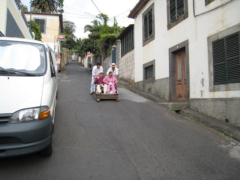"Funchal, Madeira - the ""toboggan"" ride"
