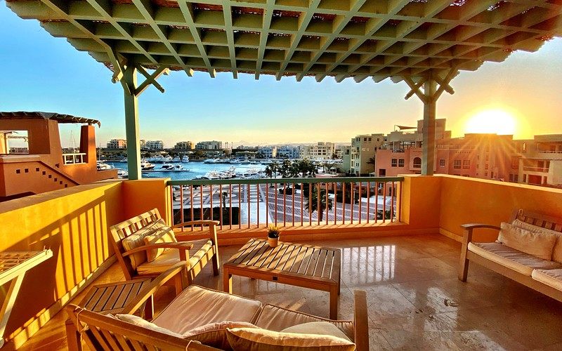 View from our AirBnb - El Gouna, Egypt