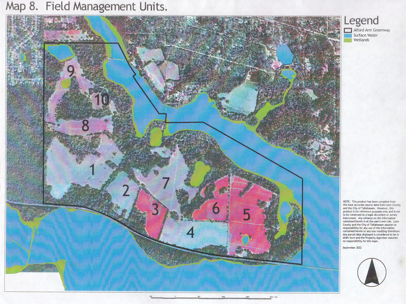 J. R. Alford September 2002 DRAFT Management Plan Map 8: Field Management Units - see Management Plan beginning p.16 (.pdf p23).