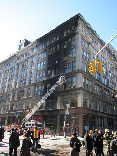 NYC 6th Ave & 20th Electric Fire and Explosion 02-11-2010