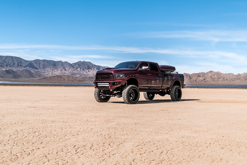 @red_pearl_cummins #ProjectRedPearl 2018 Dodge @RamTrucks 2500 24x14 #SHOCK Face-Plate Series 38x13.5r24 Sniper Tires-35.jpg