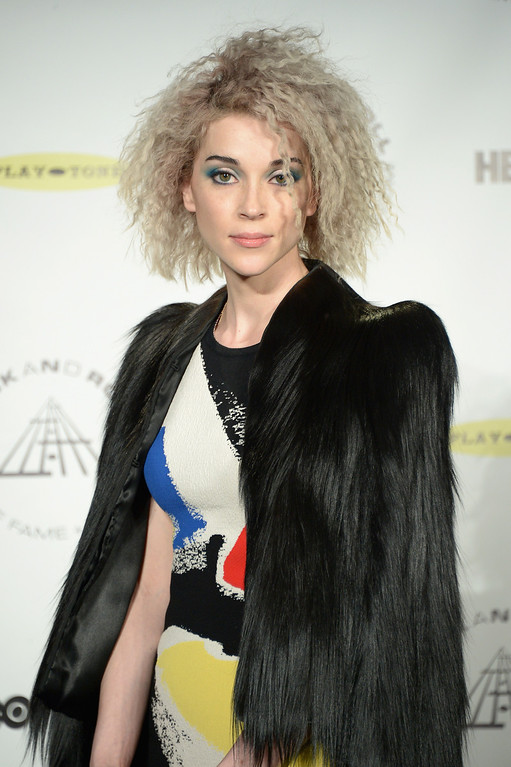 . Musican St. Vincent attends the 29th Annual Rock And Roll Hall Of Fame Induction Ceremony at Barclays Center of Brooklyn on April 10, 2014 in New York City.  (Photo by Michael Loccisano/Getty Images)