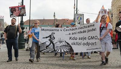 March against Monstanto Prague 2014