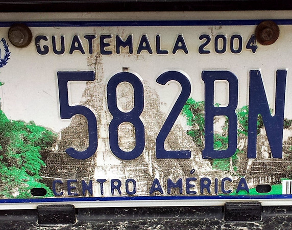 Guatemala Number Plate