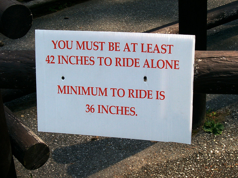 Sign on the Log Flume ride.