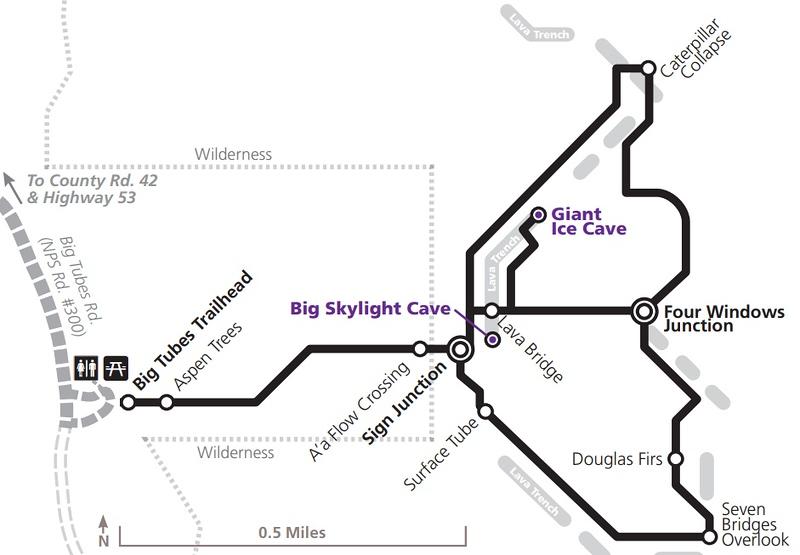 El Malpais National Monument (Big Tubes Area Trail Map)