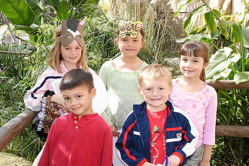 Sydney, Alanna, Sierra, Eli and Christopher at Alanna and Jaison's birthday party at the Santa Barbara Zoo.
