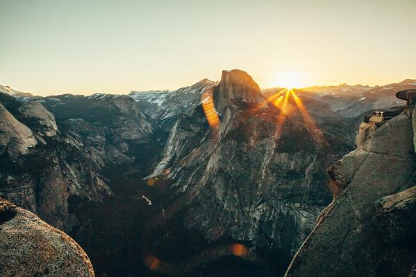 Sunrise at Glacier Point