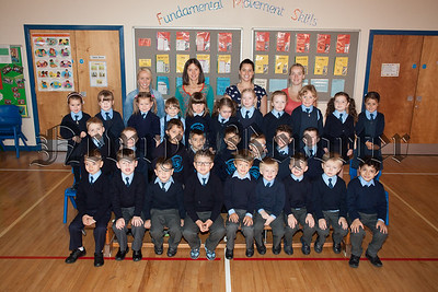 Pictured with their Teachers and Classroom Assistants are the Primary 1 class at Windosr Hill PS. R1539001
