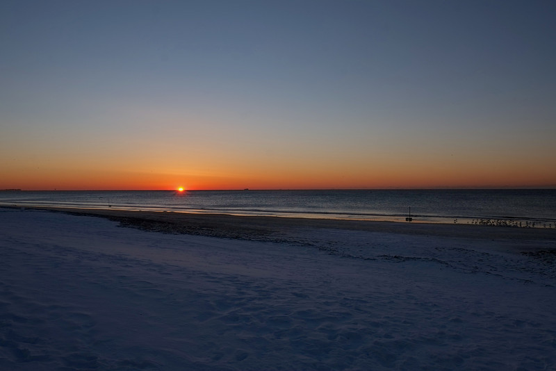 Rockaway beach Winter Sunrise