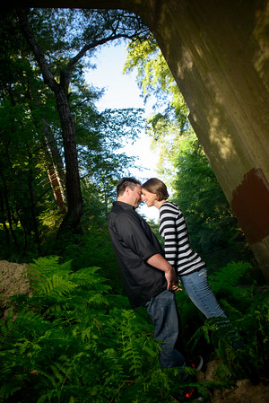 Lacy and Dustin - Engagement Photography, Henry Cowell Park, Felton, California