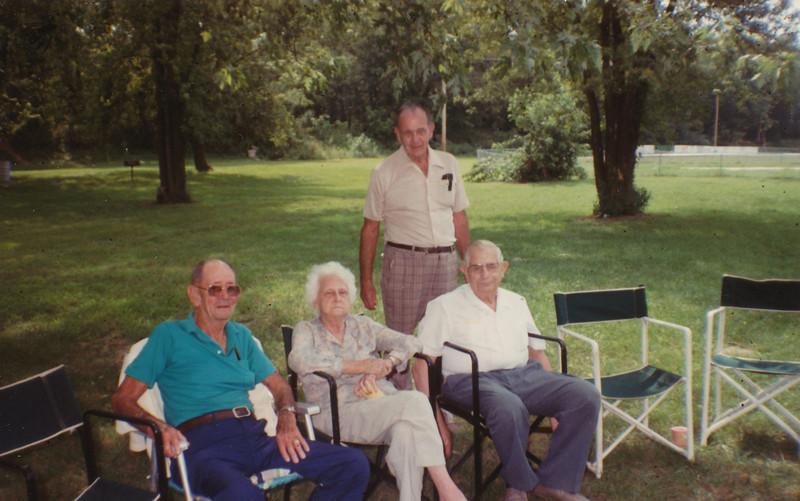 1988 (First Cousins-Elmo Bell, Helen Clark, Ralph & Ellis Sullivan).jpg