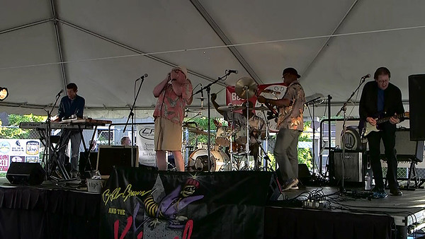 Bill Brown and the Kingbees at the Beer Garden Vashon Strawberry Festival Saturday night 2016