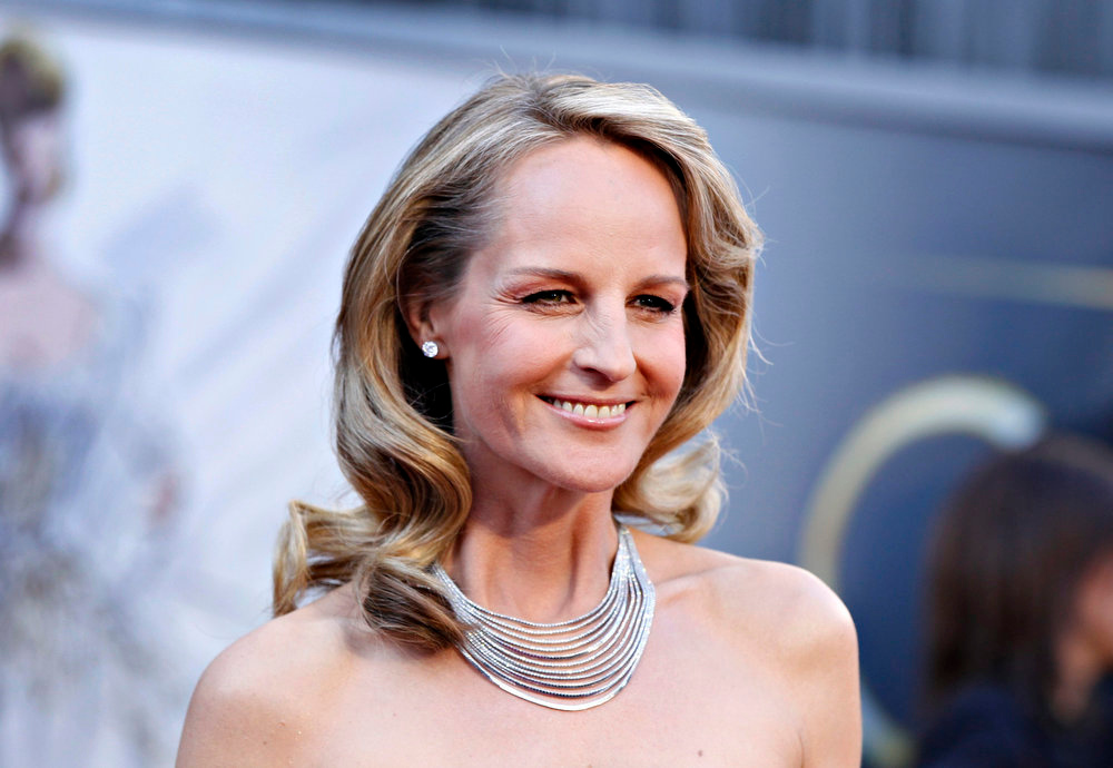 ". Helen Hunt, best supporting actress nominee for her role in ""The Sessions\"", wearing Martin Katz jewelry, arrives at the 85th Academy Awards in Hollywood, California February 24, 2013.    REUTERS/Lucas Jackson"