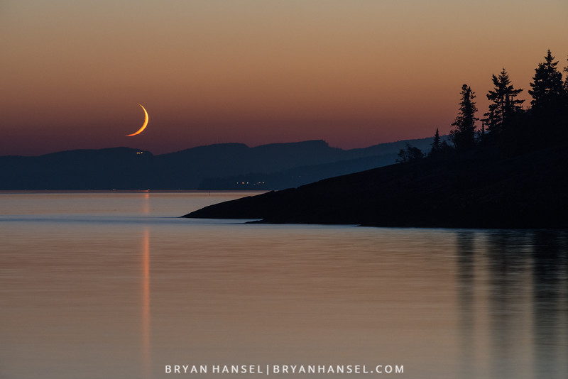 Crescent Moon over Lutsen